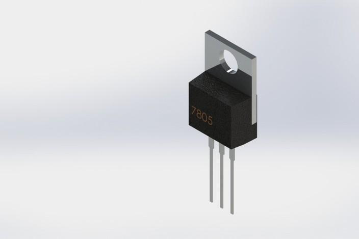 Ic 7805 Voltage Regulator